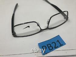 NIKE EYEGLASSES FRAME 8131 073 Brushed Silver Black 55-17-140 Full Rim PB21