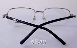 New Authentic MONT Blanc MB528U Silver/Black Half Rim Eyeglasses Frame for Men