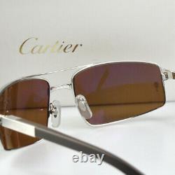 New Cartier SANTOS RIMMED Aviator Sunglasses T8200716 Occhiali da Sole Frame