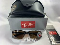 New RAY BAN 3217 POLARIZED 014/83 Sunglasses Brown/Brown 55 mm Half Rim