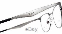 New Ray-Ban RB6346 2553 Silver Half Rim RX Prescription Eyeglasses 50mm Italy