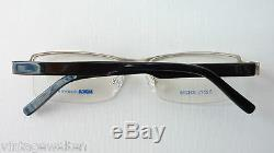 Nika half Rim Glasses Frames Metal Silver Plastik-Federbügel Sporty SIZE M