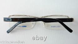 Nika half Rim Glasses Socket Metal Silver Plastik-Federbügel Sporty Size M