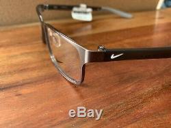 Nike 8131 073 Eyeglasses Men's Brushed Gunmetal/Wolf Grey Full Rim Optical Frame