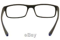 Nike Men's Eyeglasses 7090 018 Black/Blue/Silver Full Rim Optical Frame 53mm