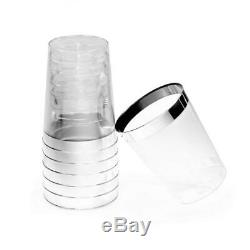 OCCASIONS 400 pcs 10 Ounce (400 Count), A1. Tumblers Silver Rimmed