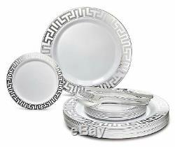 OCCASIONS 600 PCS / 120 GUEST Wedding Disposable Plastic Plate and
