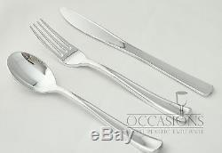 OCCASIONS Wedding Disposable Plastic Party Plates & Silverware set Combo