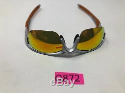 Oakley Sunglasses Half Jacket 2.0 Silver withFire Iridium OO9144-02 Half Rim Q872