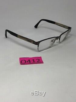 POLICE VPL432K COL. 0627 Eyeglasses Frame Half Rim 53-18-140 Silver/Beige O412