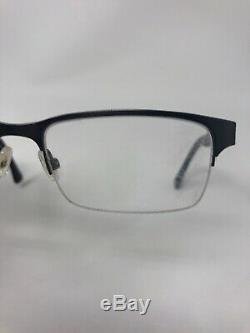 POLICE VPL432K COL. 0627 Eyeglasses Frame Half Rim 53-18-140 Silver/Brown Z657
