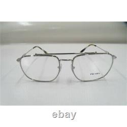PRADA Journal PR56UV Mens Silver Full Rim Metal Eyeglass Frames 55-18-145
