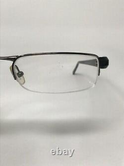 PRADA VPR52E 5AV-1O1 Eyeglasses Frame Italy Half Rim 49-17-135 Silver/Black NO75