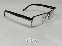 PRADA VPR60F 1BO-1O1 Eyeglasses Frame Italy Half Rim 53-17-135 Black/Silver P628