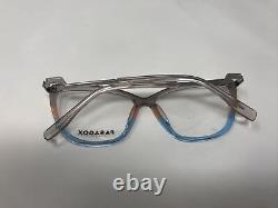 Paradox Eyeglasses Frames P5059 10 Silver Blue 55-14-140 Japan Full Rim EX21