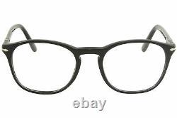 Persol 3007/V 95 Eyeglasses Men's Black/Silver Full Rim Optical Frame 52mm