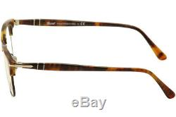 Persol Eyeglasses 8359V 8359/V 108 Caffe/Silver Full Rim Optical Frame 51mm