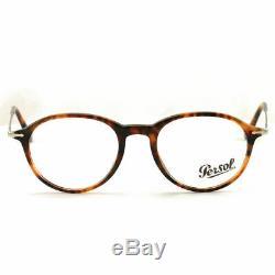 Persol Eyeglasses PO3125V 108 51MM Havana Full Rim Plastic 51 19 140 Demo Lens