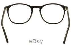 Persol Men's Eyeglasses 3007V 3007/V 95 Black/Silver Full Rim Optical Frame 50mm