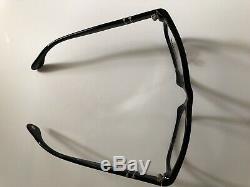 Persol Men's Eyeglasses 3012 V 95 Black Silver Full Rim Optical Frame 54mm New