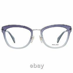 Police PL 632 Women Purple Silver Optical Frame Plastic Oval Full Rim Eyeglasses