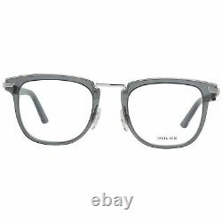 Police VPL 566 Men Silver Optical Frame Plastic Transparent Full Rim Eyeglasses