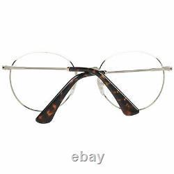 Police VPL 665 Men Brown Optical Frame Plastic Spotted Full Rim Round Eyeglasses