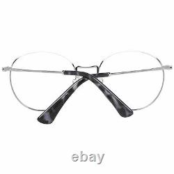 Police VPL 665 Men Silver Optical Frame Plastic Casual Round Full Rim Eyeglasses