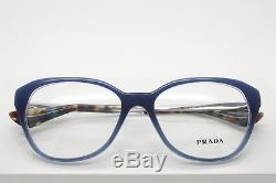 Prada VPR 28S UFW-1O1 Blue & Silver Full Rim Eyeglasses Size 54-16-140 mm