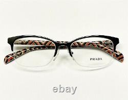 Prada VPR 60P FAR-1O1 Eyeglasses Frames Glasses Black Half Rim 52-17-140 Display