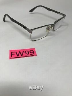 RAY-BAN RB8411 2714 Eyeglasses Frame Half Rim 54-17-140 Silver/Carbon FW99