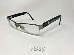 RUSSELL SIMMONS PARKER Eyeglasses Frame Half Rim 57-18-150 Silver/Black BQ64