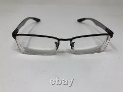 Ray Ban Eyeglasses Frame RB8412 2503 54-17-145 Carbon Fiber Black Half Rim GM74