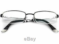 Ray Ban Eyeglasses RB 6133 2672 Black/Silver Half Rim Metal Frame 5119 140