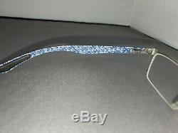 Ray Ban Eyeglasses RB 8412 2502 Carbon Fiber Silver Half Rim Frame 5417 145