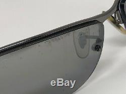 Ray-Ban RB3179 TOP BAR 004/82 63mm Silver Half Rim Polarized Wrap Sunglass WG43