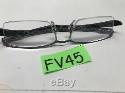 Ray Ban RB8412 2893 54-17-145 Eyeglasses Frame Carbon Silver Half Rim FV45