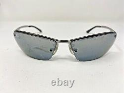 Ray Ban Sunglasses Frames RB3183 004/82 63-15 3P Gunmetal/Black Half Rim P422