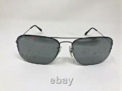 Ray Ban Sunglasses RB3482 004/6G 59-15 Italy Gunmetal Half Rim Silver Mirror W23
