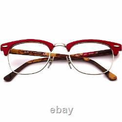 Ray-Ban Women's Eyeglasses RB 5154 5651 Red/Silver Horn Rim Frame 4921 140