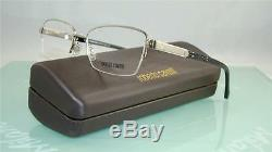 Roberto Cavalli La Digue 761 016 Black Silver Half Rim Eyeglasses Frames Size 52
