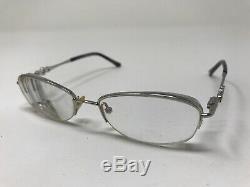SAKS FIFTH AVENUE S5A211 3UW Eyeglasses Frame 50-17-130 Half Rim Silver QM86