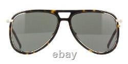 Saint Laurent Men Women Sunglasses CLASSIC 11 RIM-003 Havana Silver Frame Grey