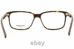 Saint Laurent SL-458/F 002 Eyeglasses Men's Havana/Silver Full Rim Square 55mm
