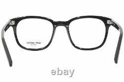 Saint Laurent SL-459 001 Eyeglasses Men's Black/Silver Logo Full Rim Square 51mm
