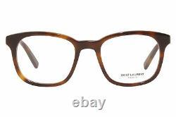 Saint Laurent SL-459 003 Eyeglasses Men's Havana/Silver Logo Full Rim Square