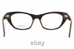 Saint Laurent SL-M80 001 Eyeglasses Women's Black/Silver Logo Full Rim Cat Eye