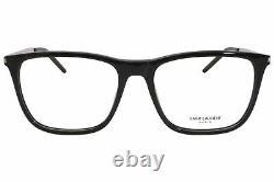 Saint Laurent SL345 001 Eyeglasses Silver/Black Full Rim Optical Frame 55mm