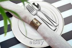 Stately Elegance Designs 200 Piece White and Silver Rimmed Plastic Plate Set