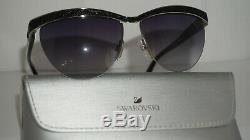 Swarovski New Sunglasses Half Rim Palladium Silver Grey SK0076/S 16B 60 15 135